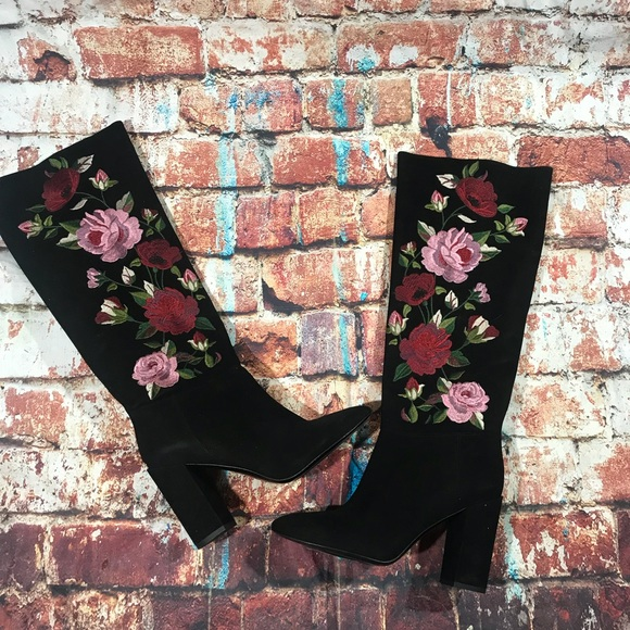 8990a4cbde9 Kate spade greenfield floral embroidered boot NEW